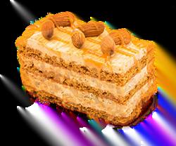 Walnut cake with honey